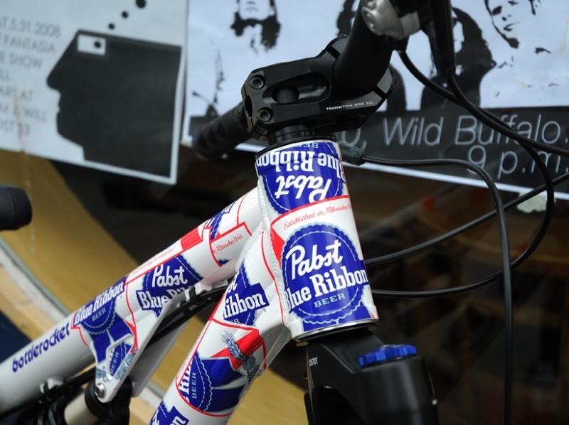 Pabst Blue Ribbon Logo. and Pabst Blue Ribbon Beer
