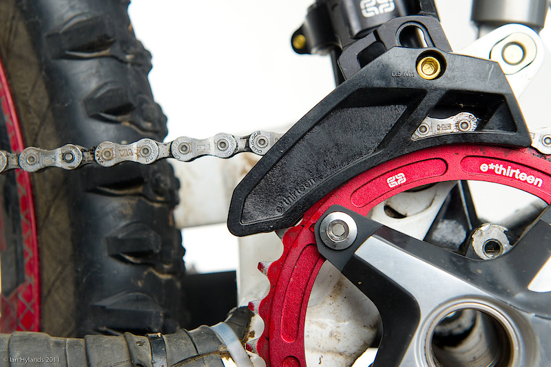chain guide and bash guard