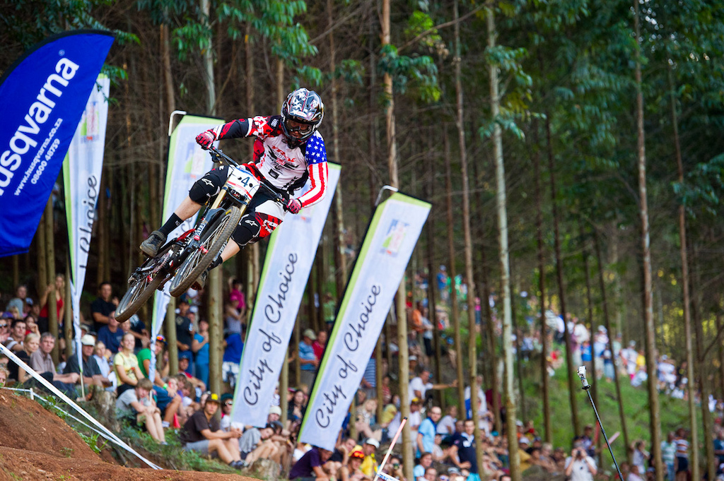 It's been a looooong time since an American won a Mountain Bike World Cup Downhill. Congratulations, Gwin!